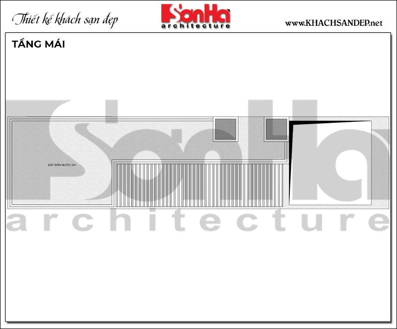10 Mặt bằng tầng mái khách sạn hiện đại 10 tầng tại hải phòng sh ks 0080