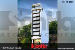 BÌA kiến trúc khách sạn hiện đại 3 sao 10 tầng tại hải phòng sh ks 0080